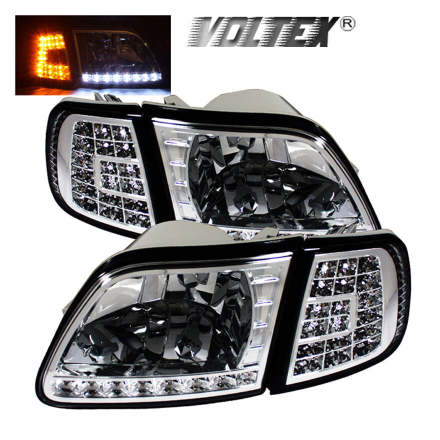 Led Headlights For F150 >> 1997-2002 FORD F150 EXPEDITION LED CRYSTAL HEADLIGHTS ...