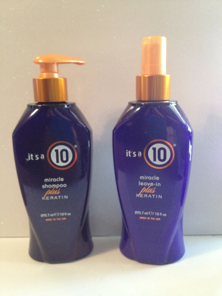 its it 39 s a 10 miracle keratin shampoo keratin leave in conditioner 10oz set ebay. Black Bedroom Furniture Sets. Home Design Ideas