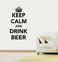 Keep Calm and Drink Beer Vinyl Wall Art Sticker Decal