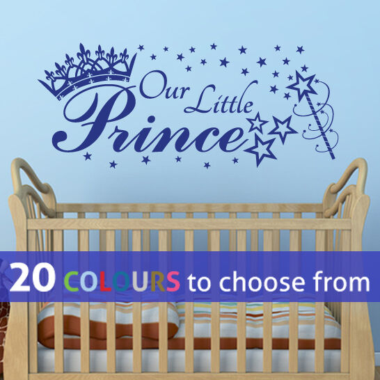 Our Little Baby Boy S Neutral Room: OUR LITTLE PRINCE Stars Crown Wall Sticker Art Decal Baby