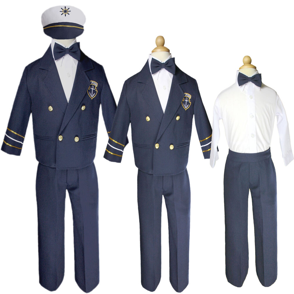 Baby Boy Toddler Captain Sailor Suit Formal Outfits