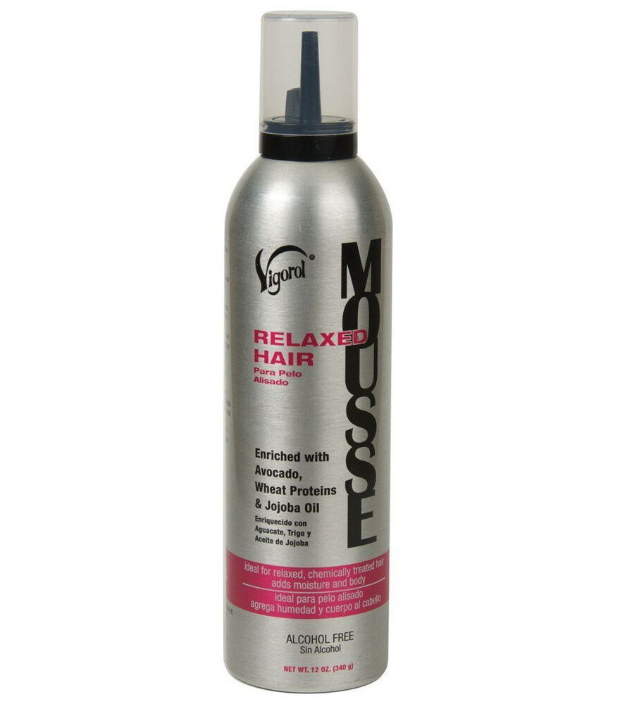 Mousse on hair