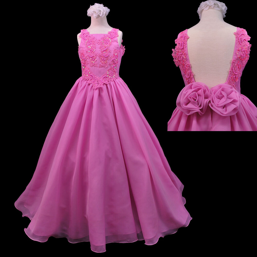 New little teens girl pageant wedding formal party long for Dresses for teenagers for weddings
