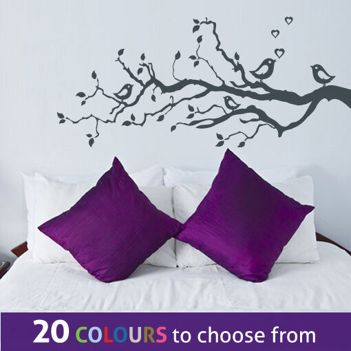 love birds family tree branches wall sticker art decal boy girl