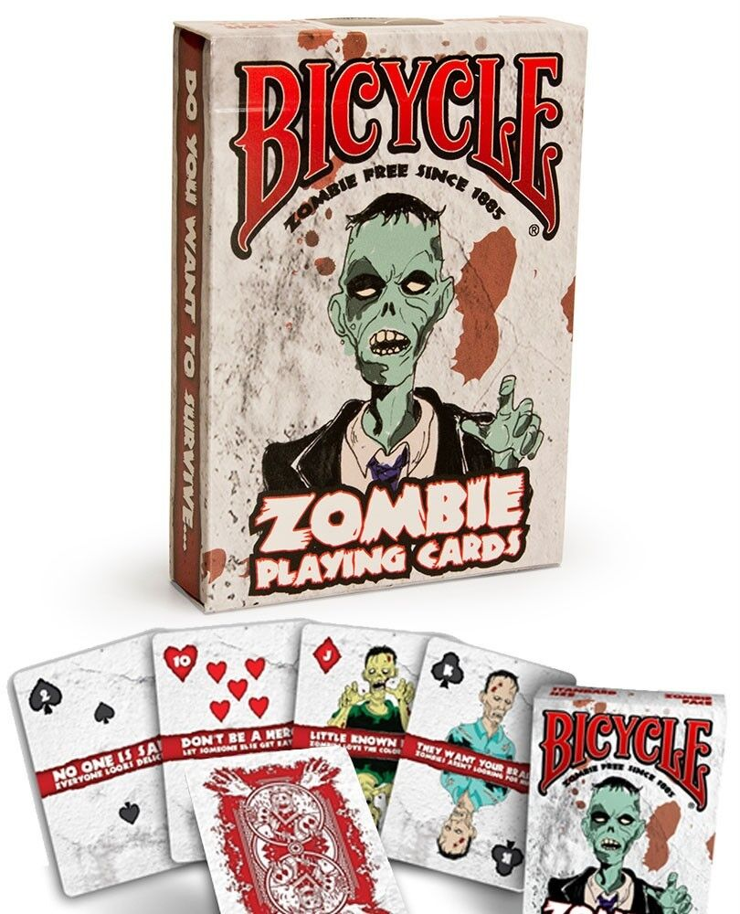 Bicycle zombie playing cards deck great halloween party for Zombie balcony