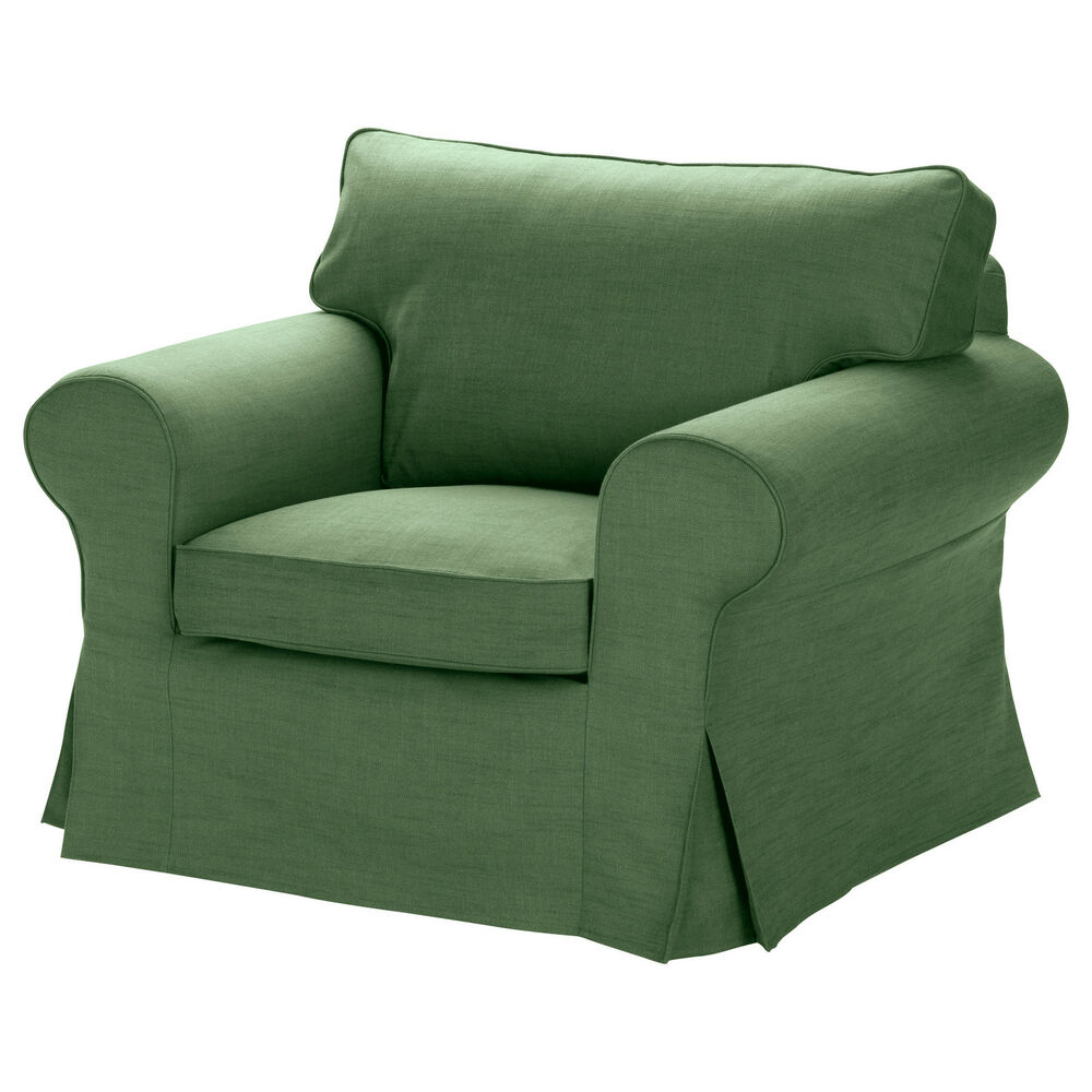 Ikea Ektorp Chair Cover Replacement Armchair Slipcover Svanby Green New Ebay