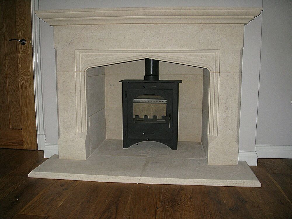 Rochester Bath Stone Fireplace Fire Surround Includes External Hearth Ebay
