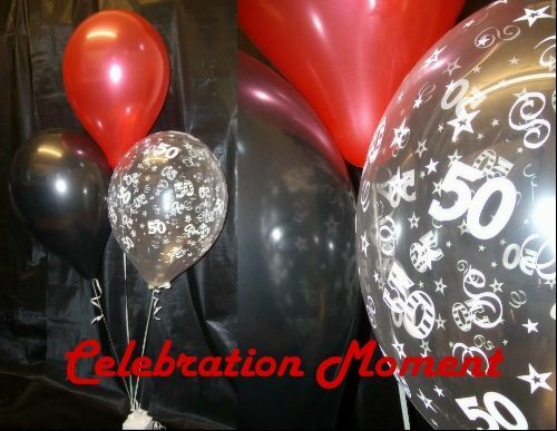 50th birthday party balloon decoration kit red black ebay for Balloon decoration kits
