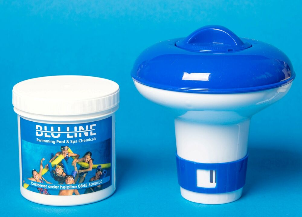 Small Dispenser With 50 Chlorine Tablets 20g For Pools And Spas Intex Pools Ebay