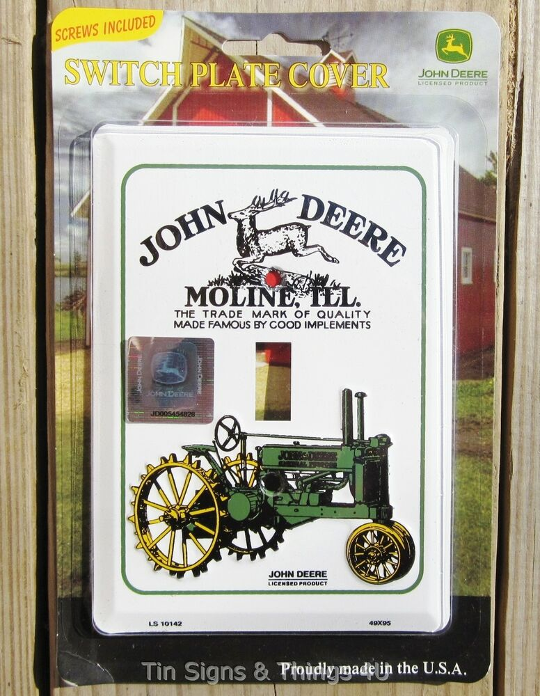 John Deere Home Decor : John deere light switch plate cover antique vtg tractor ad