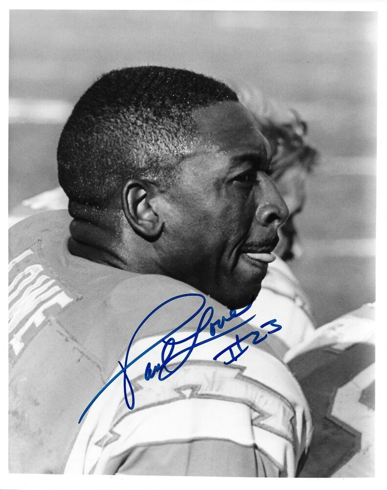Paul Lowe Signed Original Afl Chargers Wire 8x10 Photo W