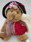 """Teddy Bear Dutchess Russ Plush Bears From Past Red Velour Hat Heart 7"""" hang tags"""