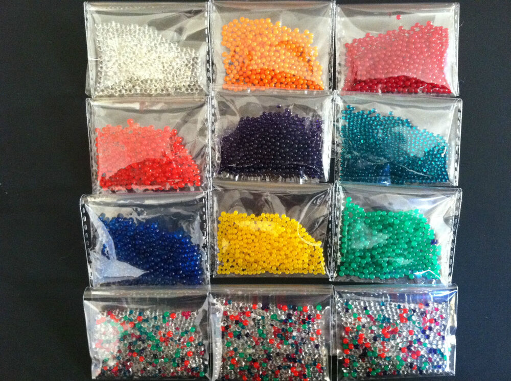 40g 6packets Water Balls Crystal Pearls Jelly Gel Beads