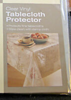 CLEAR VINYL TABLECLOTH  PROTECTORS - ASSORTED SIZES- BRAND NEW