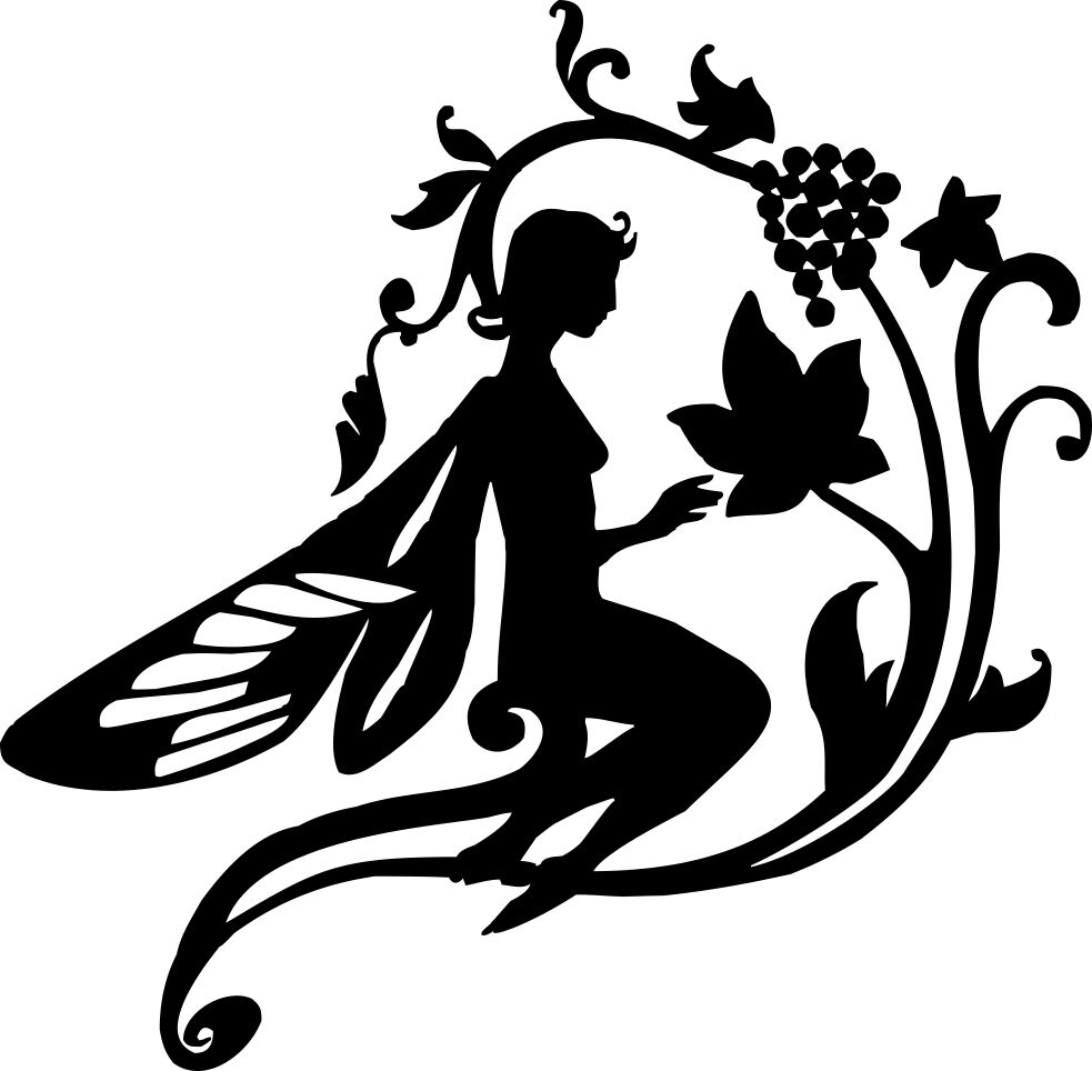fairy cut out template - die cut silhouette vine fairy topper x 6 for cardmaking