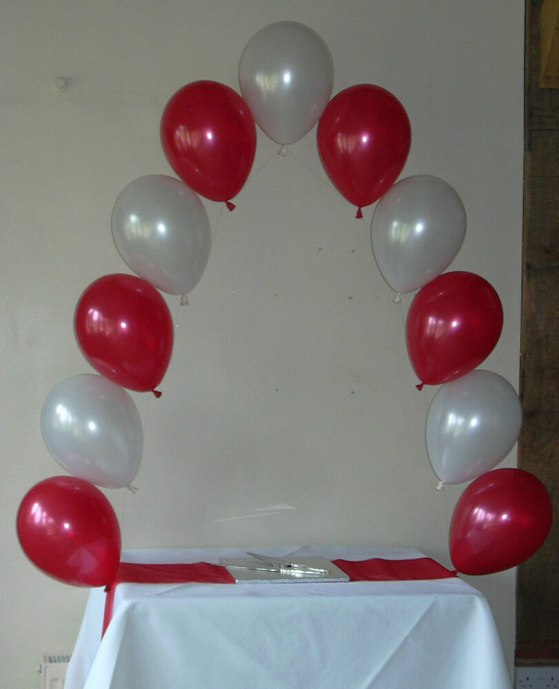 Cake table small helium balloon arch diy kit for wedding for Balloon decoration how to make