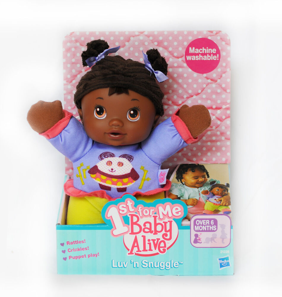 Baby Alive Luv N Snuggle Black Doll With Textured Hair Ebay