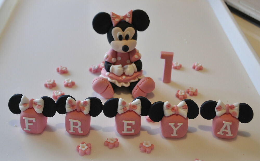 mice wedding cake toppers uk edible minnie mickey mouse baby cake topper 17334