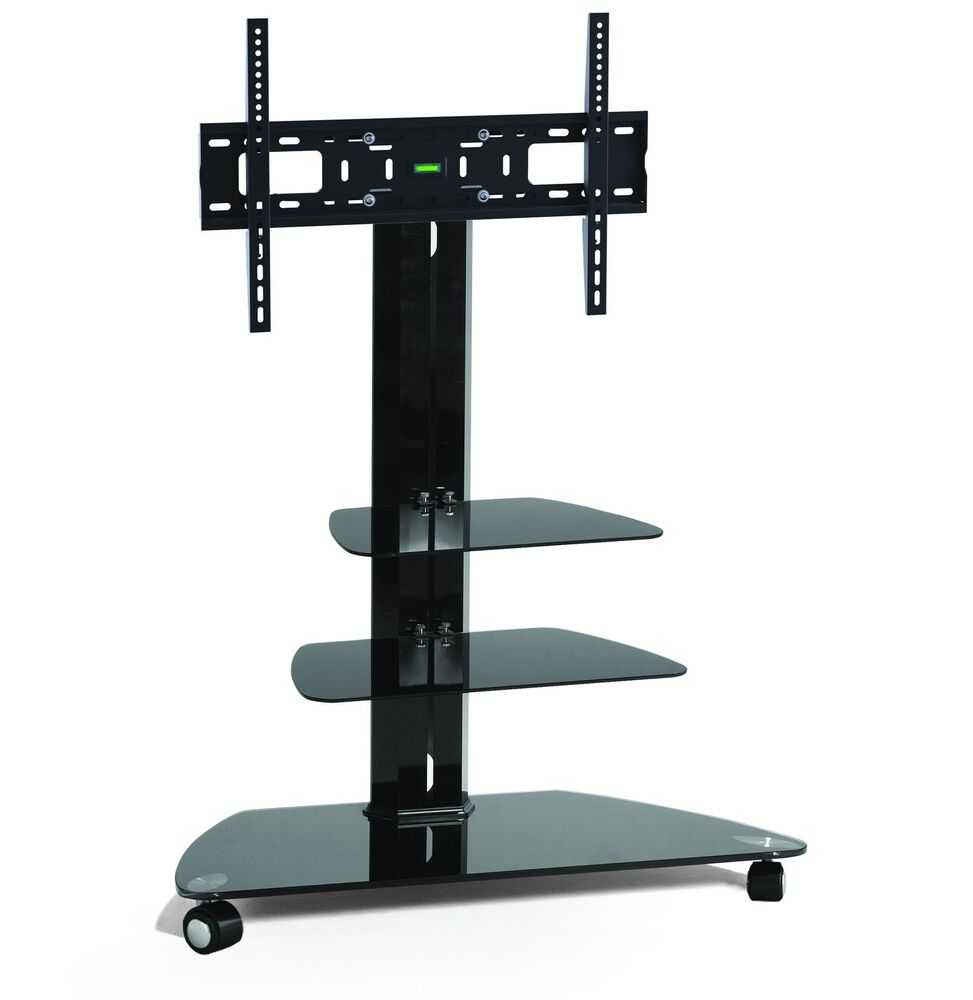 Corner TV Stand With Wheels 32 55 Flat Screen Black