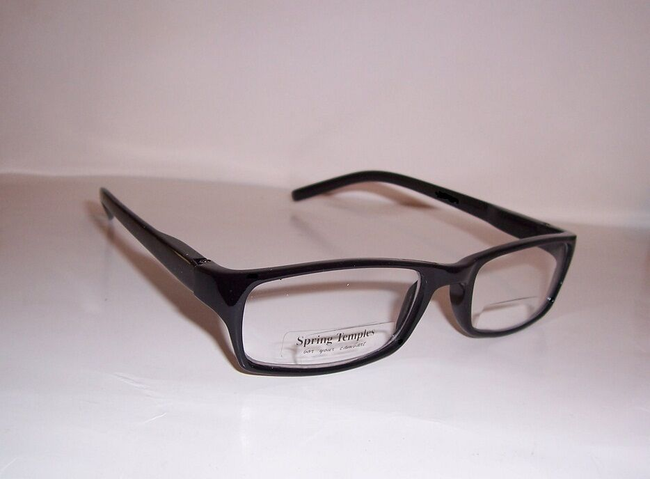 3 50 clear bifocal reading glasses black 350 magnification