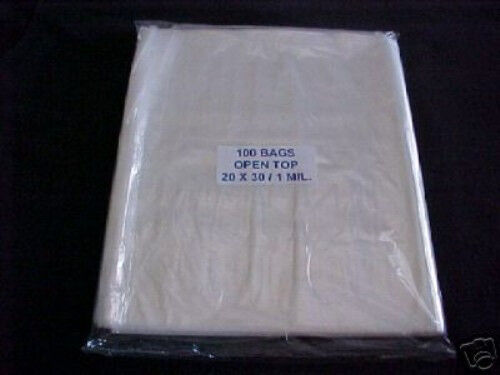 100 clear plastic 1 mil 20x30 poly bags 20 x 30 free shipping ebay. Black Bedroom Furniture Sets. Home Design Ideas