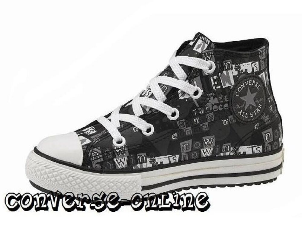 29800ddafd81 Details about KIDS Boys Girls CONVERSE All Star BLACK LEATHER HI TOP  Trainers Boots SIZE UK 11