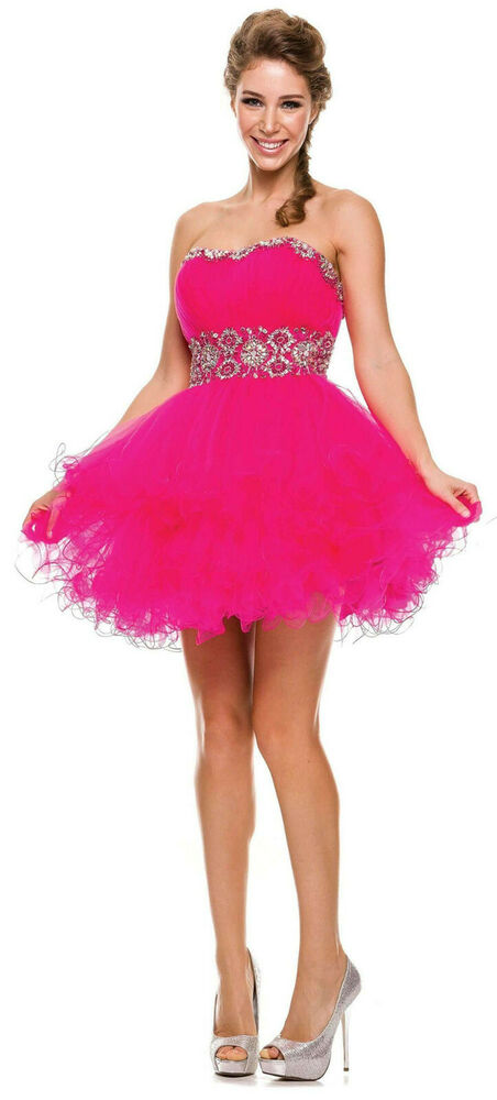 new dance party strapless cocktail dress short pageant