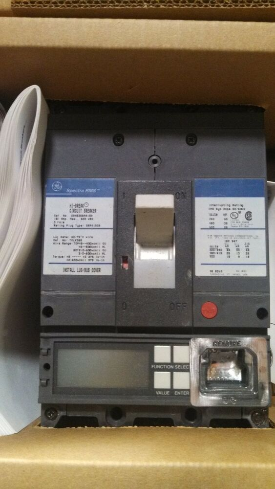 Spectra rms circuit breaker sghb36ba0150 ebay for Motor operated circuit breaker