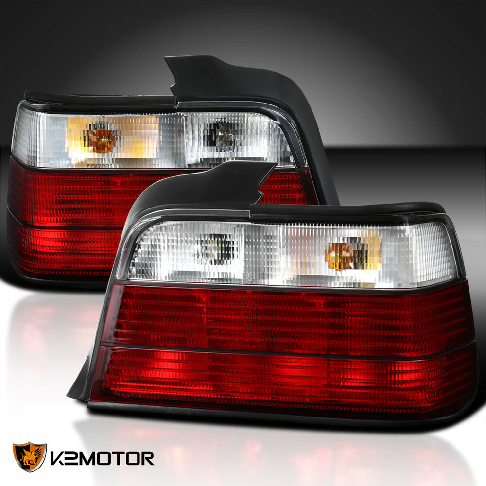 1992-1998 BMW E36 318I 325I 4Dr Tail Lights Red Clear