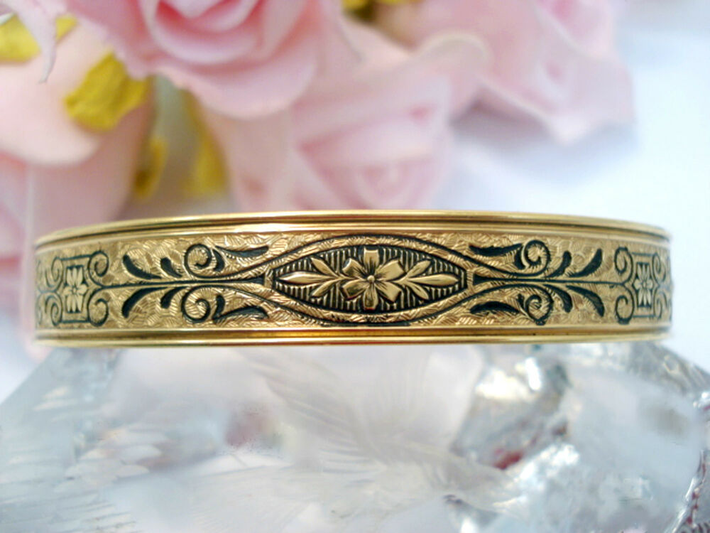 vintage jewelry 12 kt gold filled a z hayward bangle