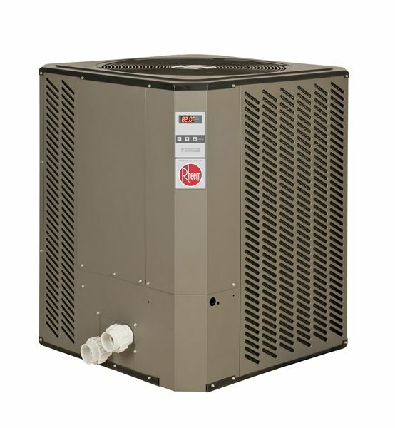 Rheem swimming pool heater heat pump s new w for Swimming pool heaters