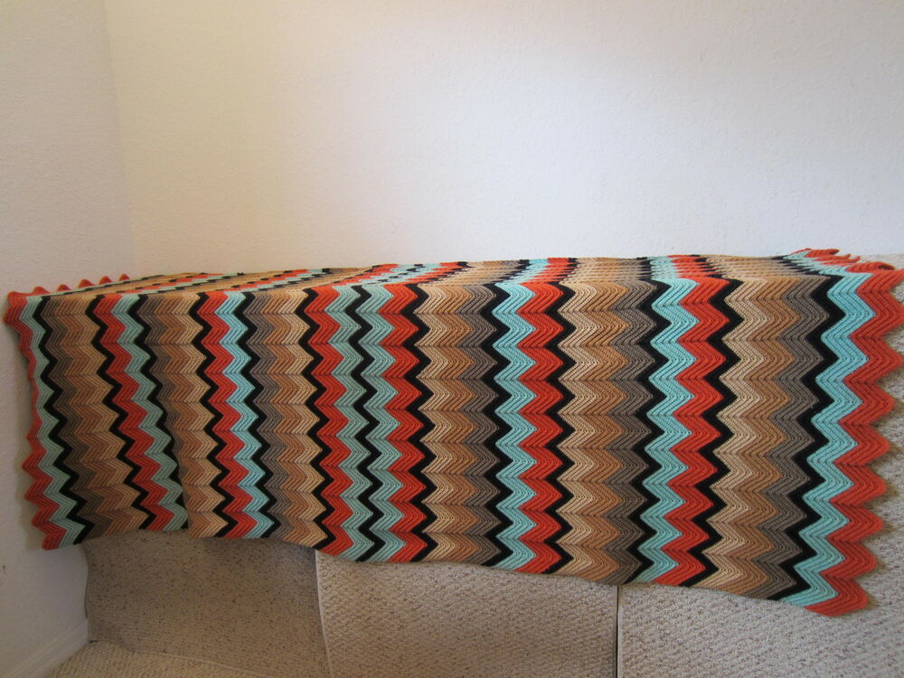 Crochet Pattern Southwestern Afghan : SOUTHWESTERN DECOR, CROCHETED,