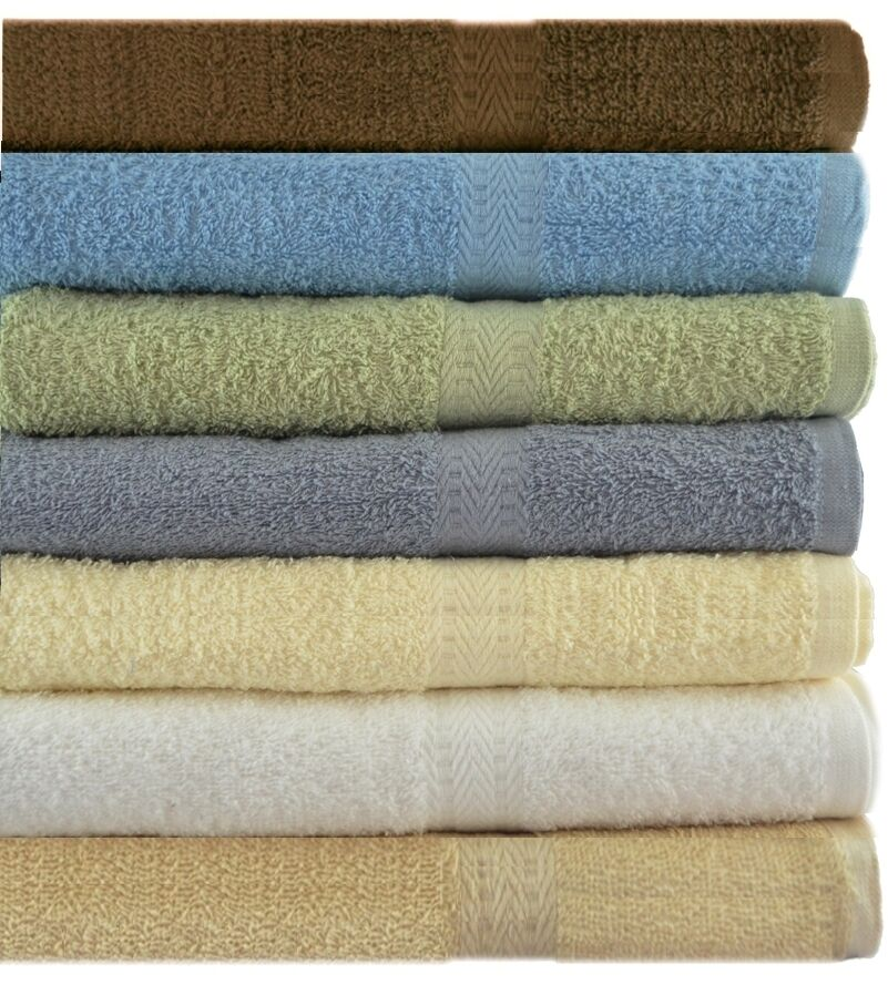 6 COTTON BATH TOWELS 27 X 54 SOFT AND ABSORBENT