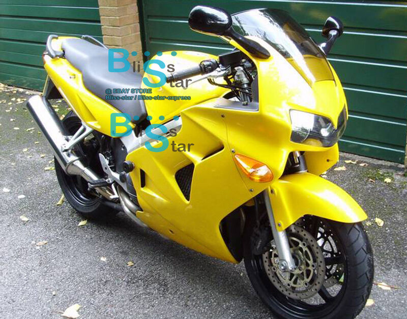 Yellow Glossy Abs Fairing Vfr800 Kit Fit Honda Vfr 800