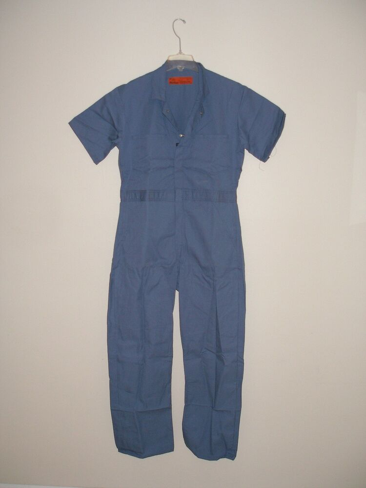 Red Kap Coveralls: Men's Navy CP40 NV Unlined Short Sleeve Work Coveralls. Breathable comfort is the promise of this Red Kap CP40 NV Unlined Navy Short Sleeve Coverall. Working hard can mean lots of movement and heat, and these cotton-blend coveralls have side vents to allow for both air flow and maximum mobility/5(9).