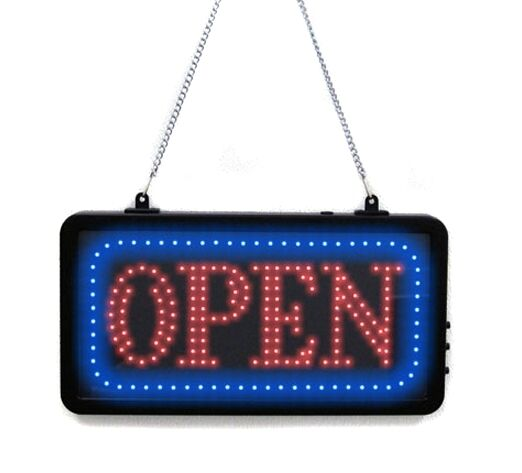 OPEN Store Sign Tattoo Supply Shop Equipment Flashing LED