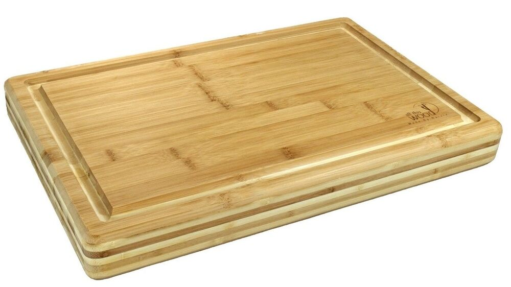 bamboo extra large size cutting board 18 x 12 x 2 strong sturdy by allthiswood ebay. Black Bedroom Furniture Sets. Home Design Ideas