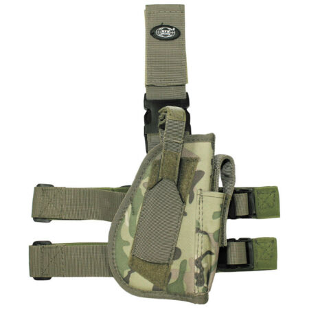 img-MFH MILITARY PATROL RIGHT HANDED COMBAT LEG HOLSTER & MAG POUCH OPERATION CAMO