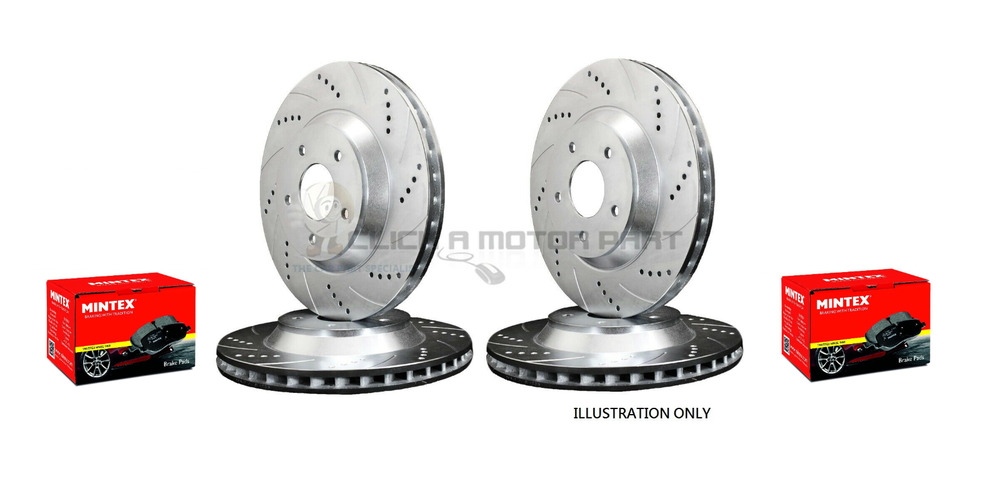 audi a3 s3 s 3 1 8t front rear drilled grooved brake discs and mintex pads ebay. Black Bedroom Furniture Sets. Home Design Ideas