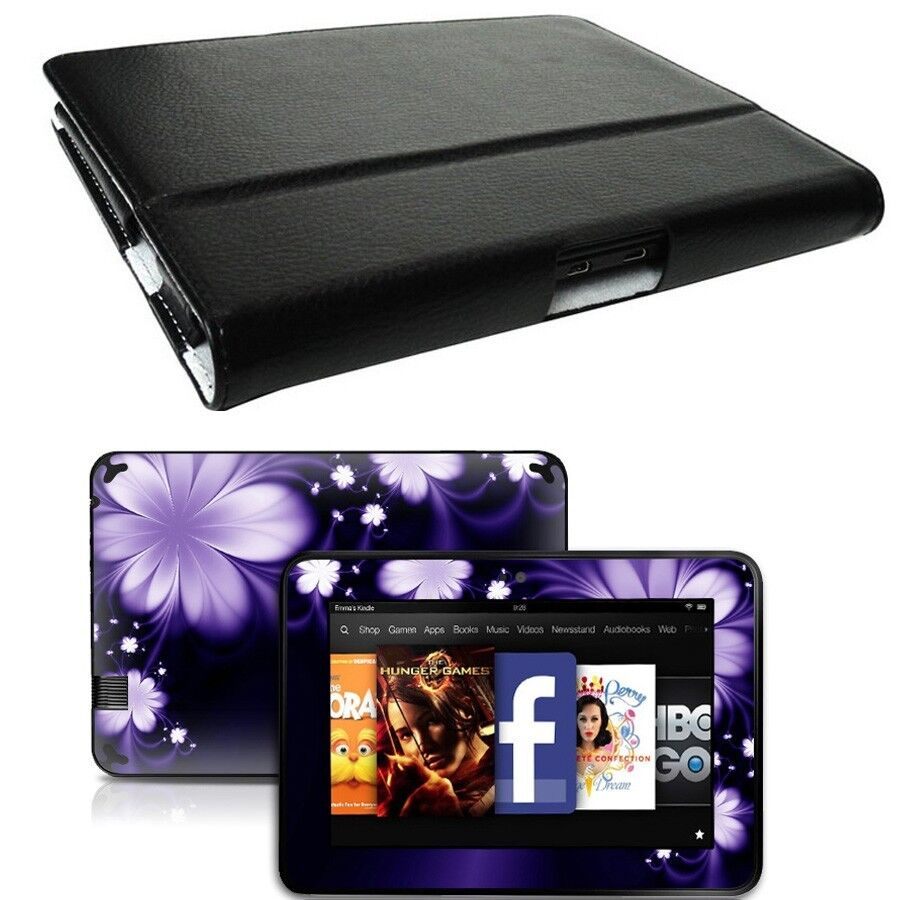 Genuine leather case cover for amazon kindle fire hd 7 for Casa amazon
