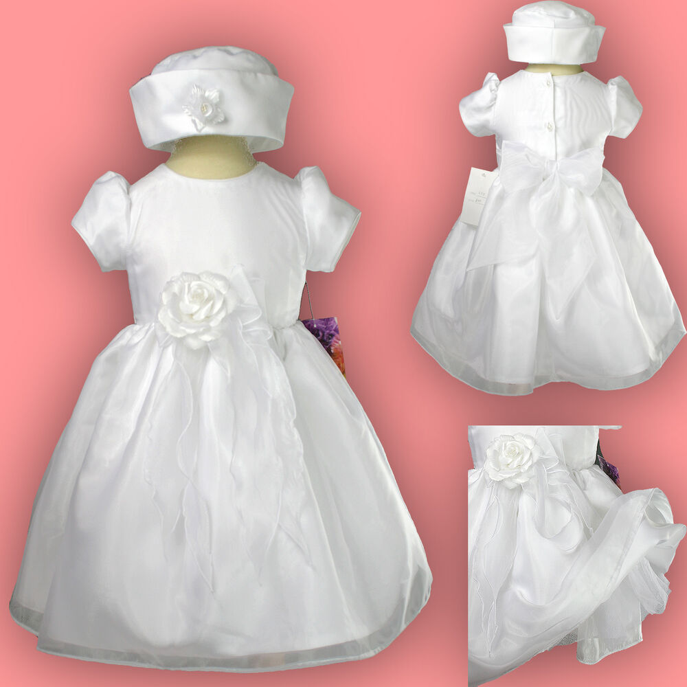 New Baby toddler Girl Pageant Baptism Christfening Formal ...