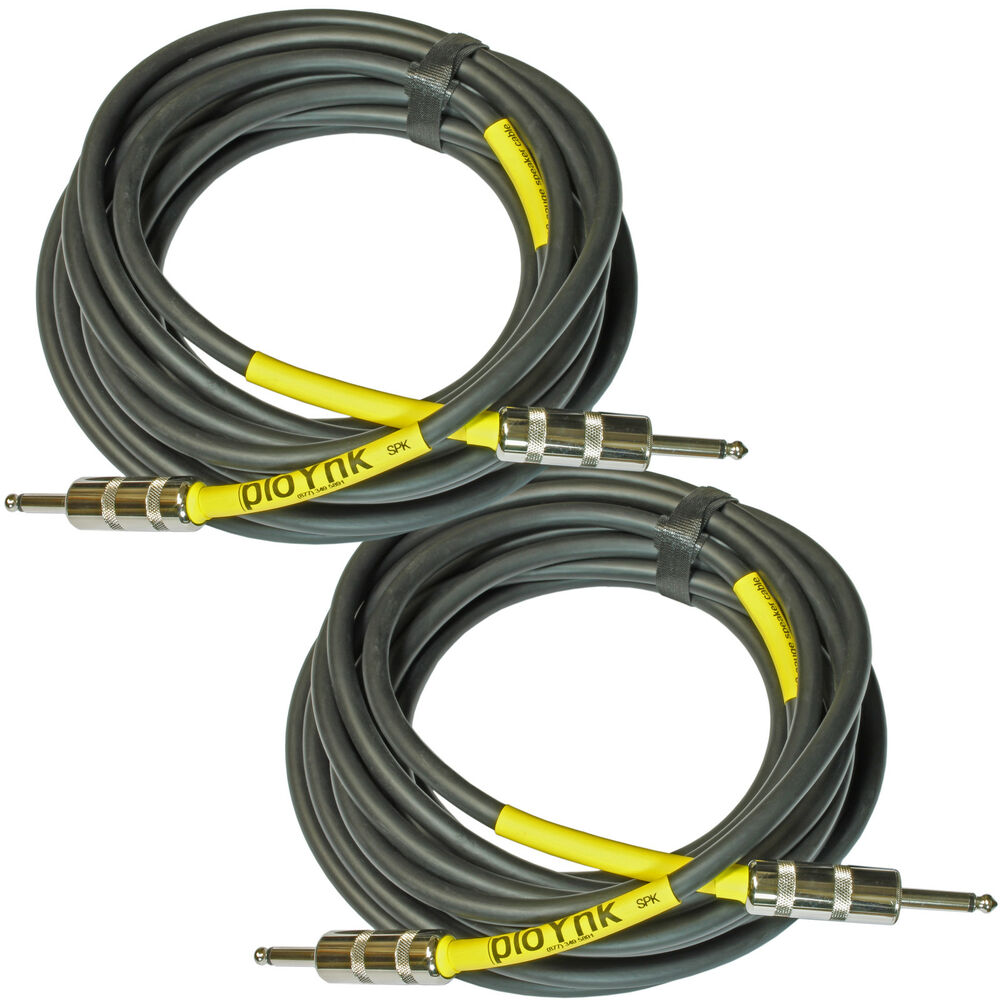 pair ploynk audio 12 awg ga gauge 1 4 power amp amplifier to speaker cable 10 ft ebay. Black Bedroom Furniture Sets. Home Design Ideas