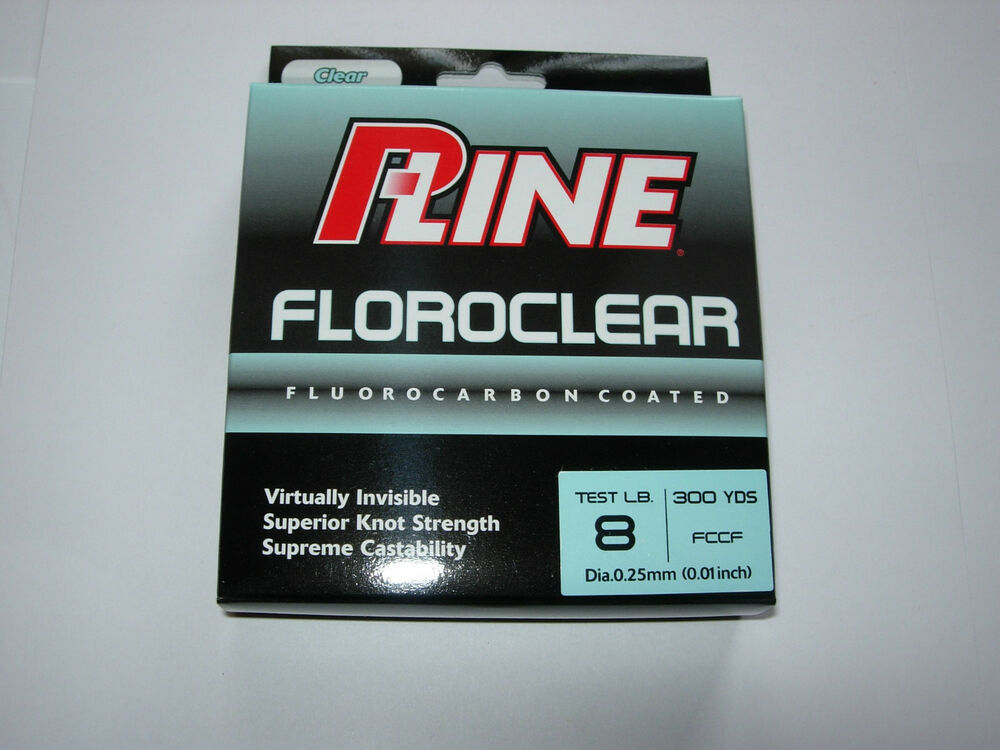 P line floroclear fishing line 300yds all sizes ebay for Pline fishing line