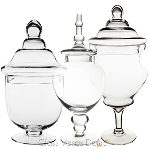 Glass Apothecary Jars With Lids