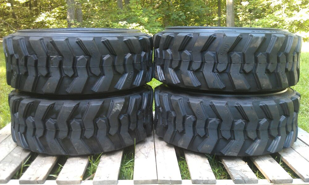 4 New 10x16 5 Skid Steer Tires 10 16 5 10 Ply For