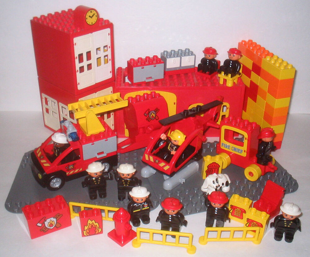 Lego Duplo Fire Station 2018 Images Pictures Town 10593 Mixed Lot Firefighters Firemen Ebay