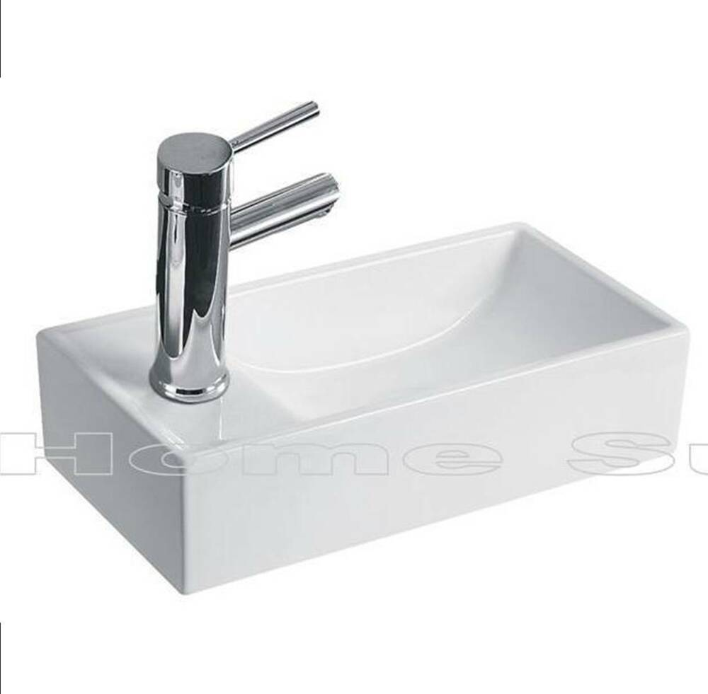 Bathroom cloakroom wall hung wall mounted ceramic sink for Bath toilet and sink