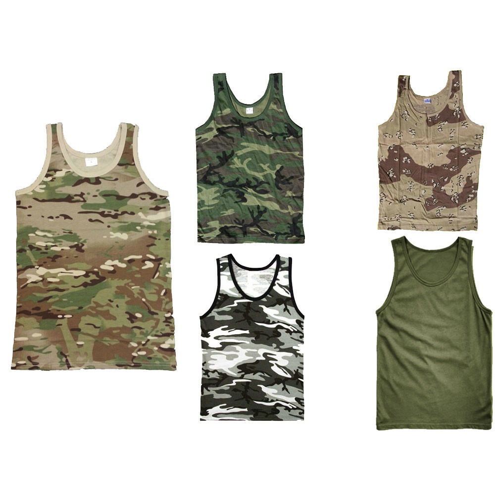 c524142a524f8 Details about ARMY VEST COMBAT MEN TANK TOP MILITARY US SLEEVELESS OLIVE  CAMO DESERT URBAN