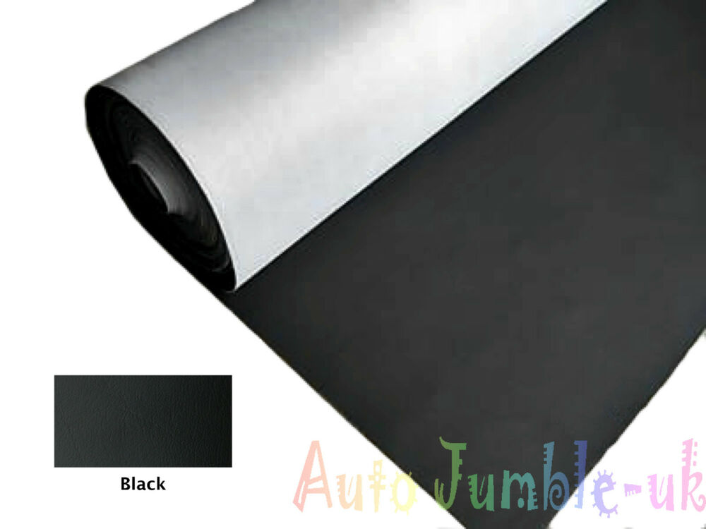 black faux leather interior car vinyl cloth dashboard fabric trimming material ebay. Black Bedroom Furniture Sets. Home Design Ideas
