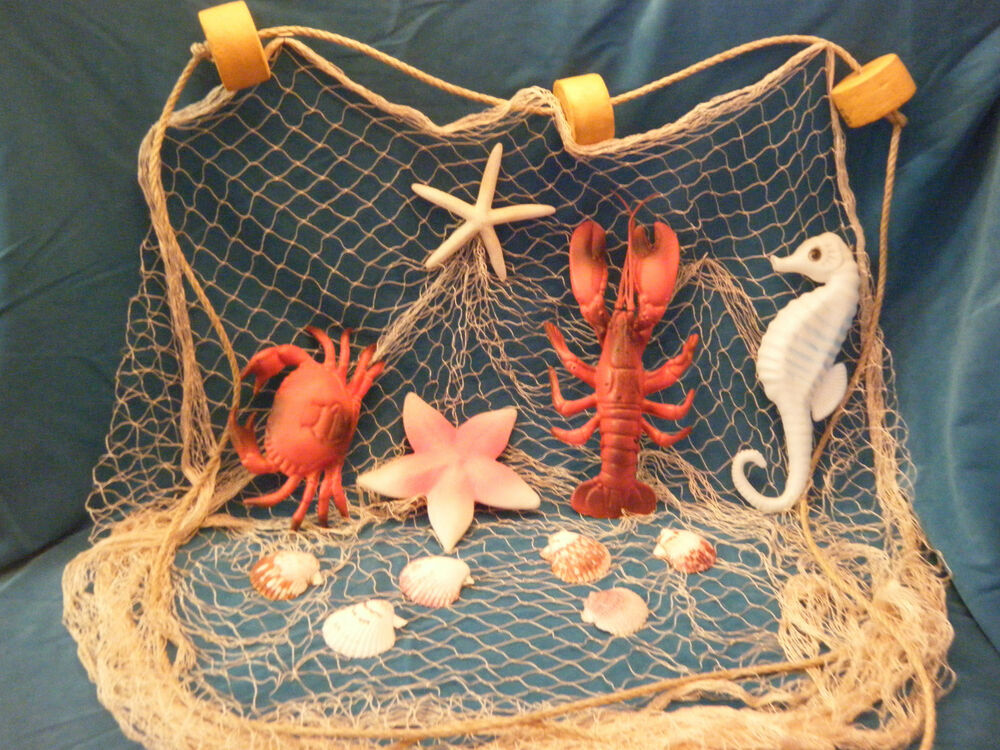 10 ' X 8 ' Decorative Nautical Fish Netting CRAB LOBSTER